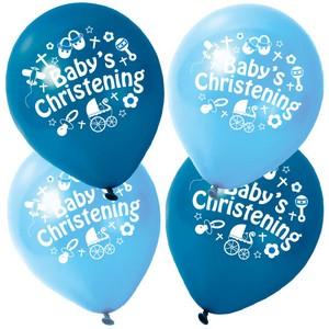 Balloon Christening Boy 280mm Pk 25 Party Supplies