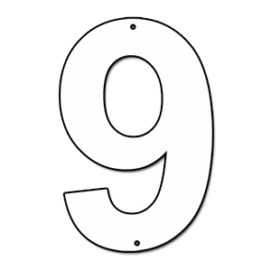 Cut Out Number 9 Cardboard Ea | Party Supplies