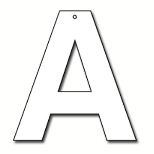 Cut Out Letter A Cardboard Ea | Party Supply | Paper Party Supplies ...
