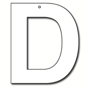 Cut Out Letter D Cardboard Ea Party Supplies