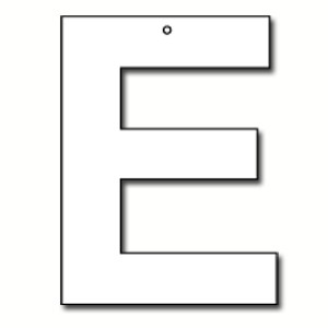 Cut out letter e cardboard ea party supplies decorations products