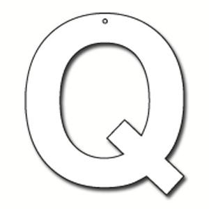Q Bubble Letter Cut Out Letter Q Cardboard Ea