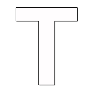 Cut Out Letter T Cardboard Ea Party Supplies