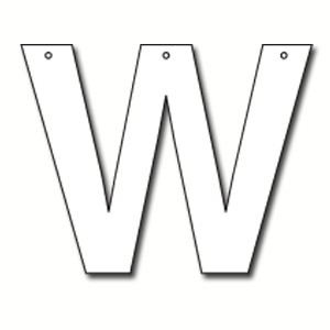 W Bubble Letter Cut Out Letter W Cardboard Ea | Party Supplies, Decorations, Products ...