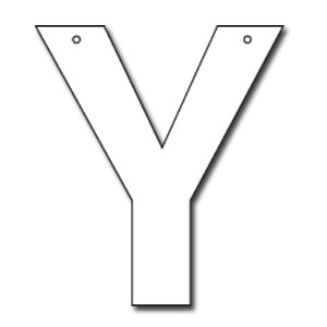 Cut out letter y cardboard ea party supplies for Large cardboard cut out numbers
