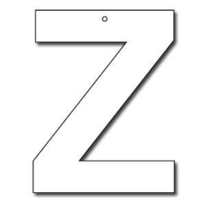 Cut Out Letter Z Cardboard Ea | Party Supply | Paper Party Supplies ...