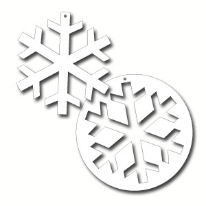 Cut Out Snowflake Large Ea  Party Supplies Decorations