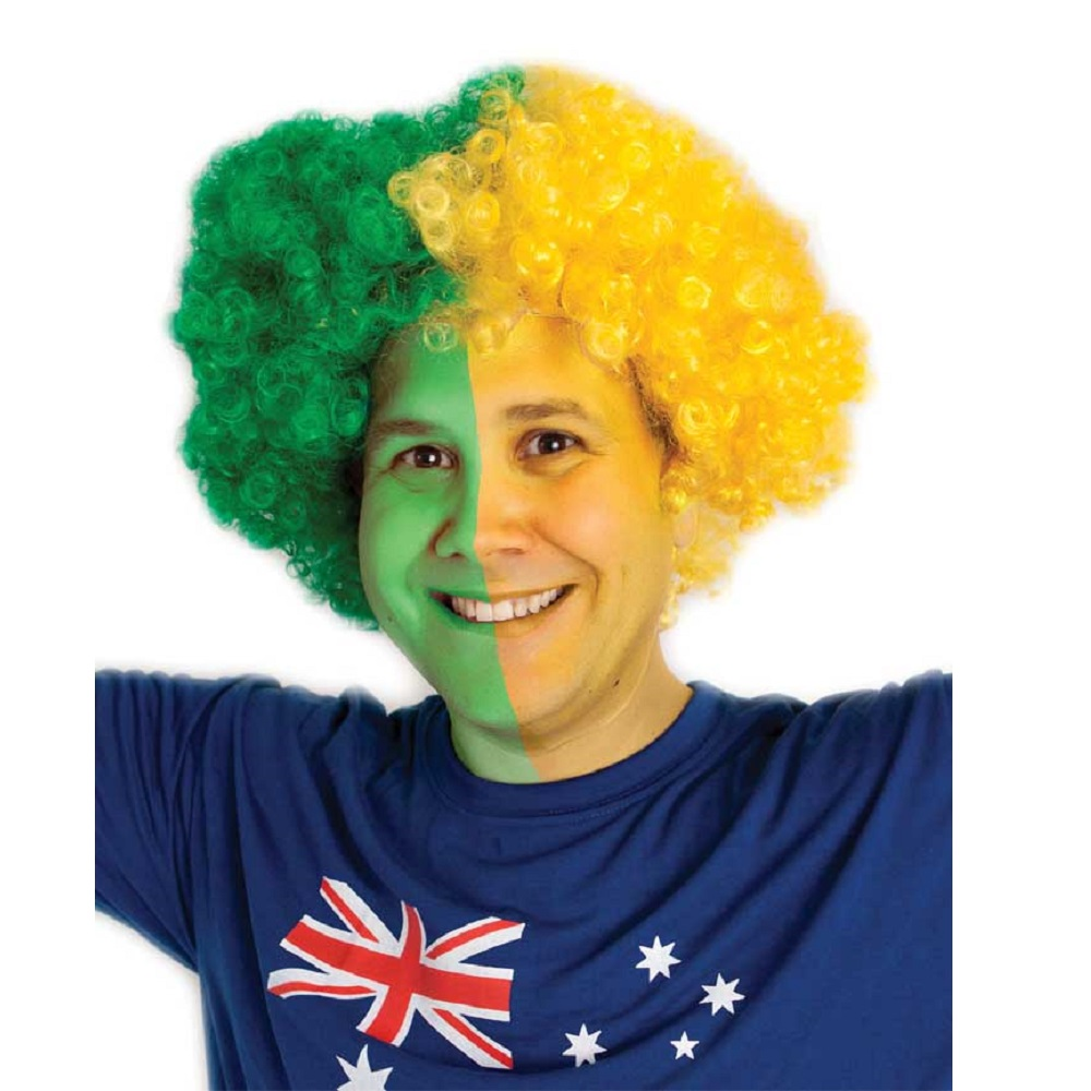 Wig Cheer Green And Gold Ea Party Supplies Decorations