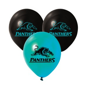 Nrl Panthers Balloons Pk 25 Party Supplies Decorations