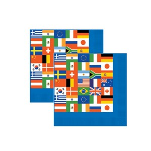 International flag napkins pk 16 party supplies for Decor products international