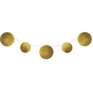 Lombard the paper people party supplies gold dot for Gold dot garland
