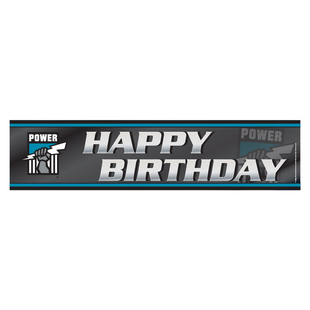 Port Adelaide Happy Birthday Banner Ea Party Supplies