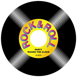 Cut Out Record Rock N Roll Ea Party Supplies