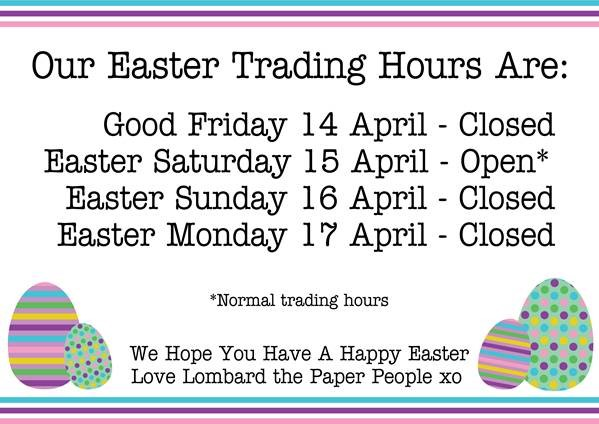 easter monday trading hours - photo #4