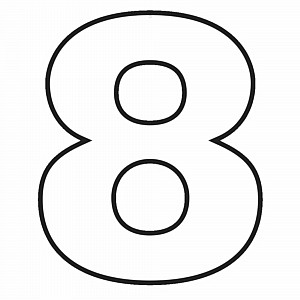 Number 8 Clipart Black And White Numbers and Let...