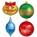 Christmas Ornament Cutouts Pk4