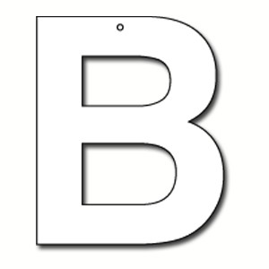 Cut Out Letter B Cardboard Ea